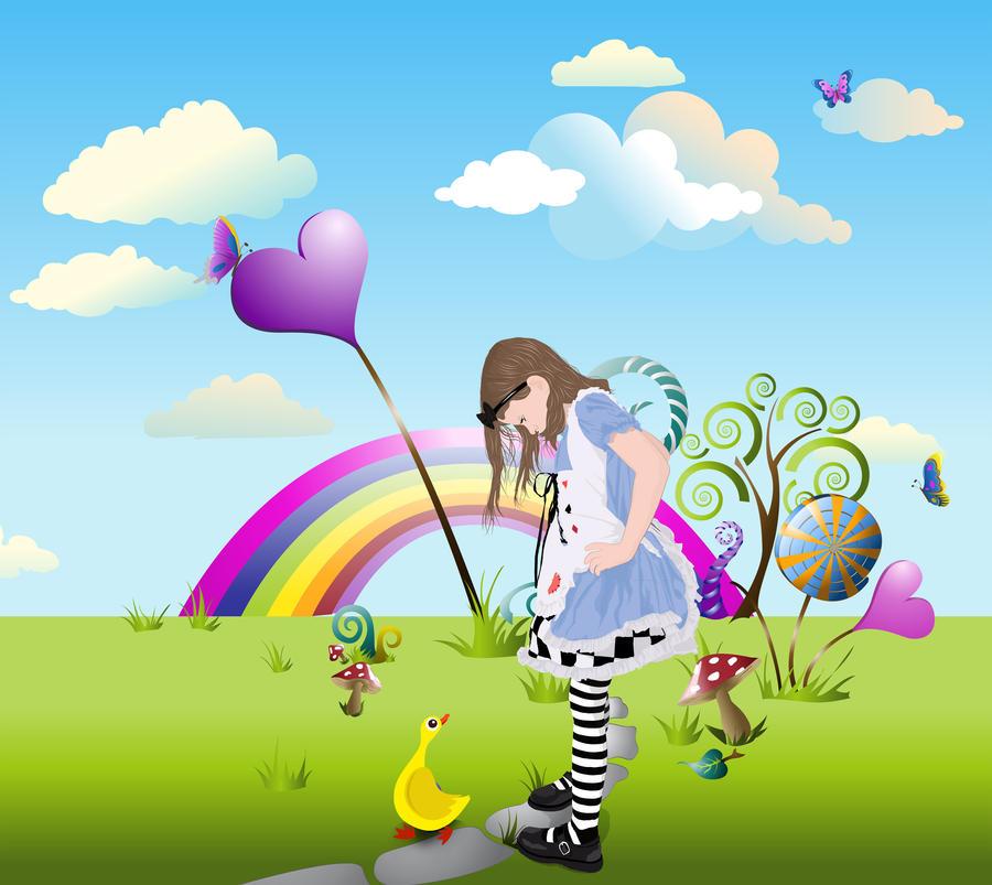 Alice In a Vector Wonderland by TL-Designz