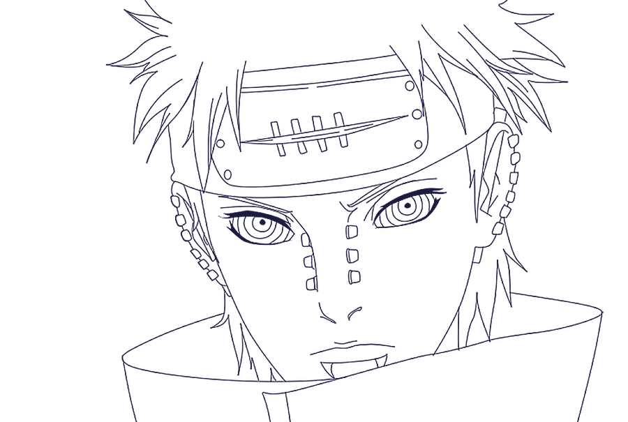 Six Paths Of Pain Sketch Templates on itachi coloring pages