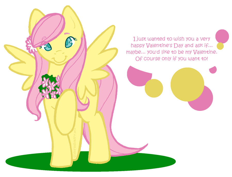 Fluttershy Valentine by SlightInsanity