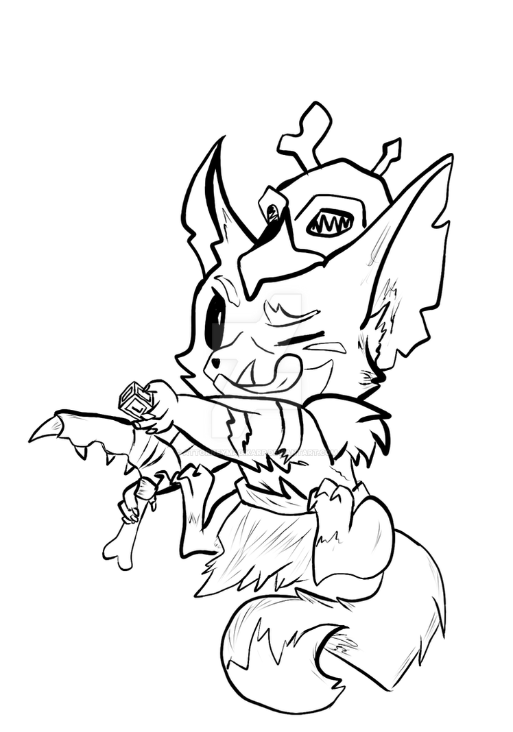 League of legends gnar lineart by attorneymagikarp on for League of legends coloring pages