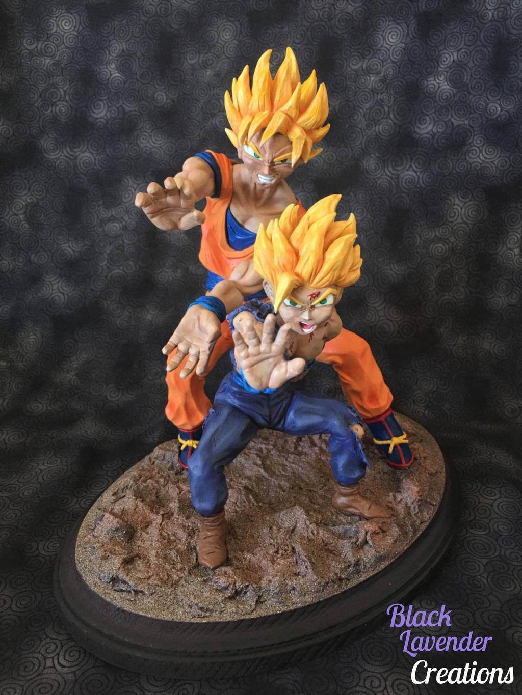 DBZ Father-Son Kamehameha by BlackLavenderSoul