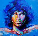 Jim Morrison blue, Acrylic on Canvas