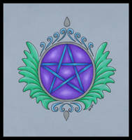 Leafy Pentacle by PoisonAlice