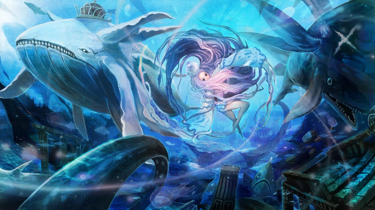 Aquatic beast celebrate by NyoXion