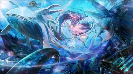 Aquatic beast celebrate2 by NyoXion