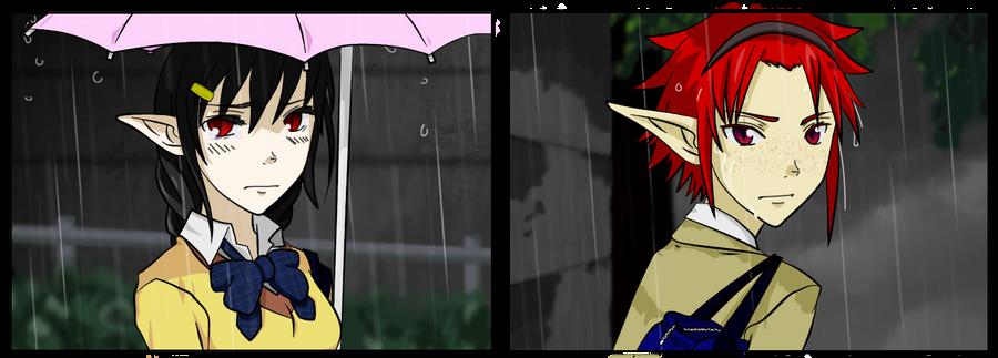 The rain by Saria-Sama