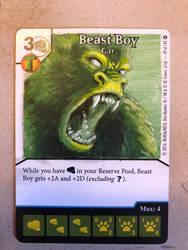 Beast boy custom art dice masters promo