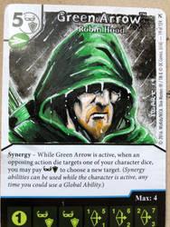 Green Arrow custom art dice masters promo
