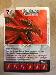 Red Dragons custom art dice masters promo