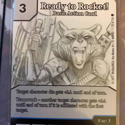 Rocket raccoon custom art dice masters promo