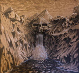 Skull waterfall
