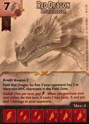 Red Dragon Dice Masters promo card