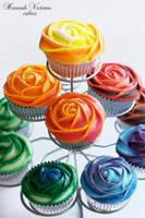 Rainbow Cakes by Hannah-Victoria