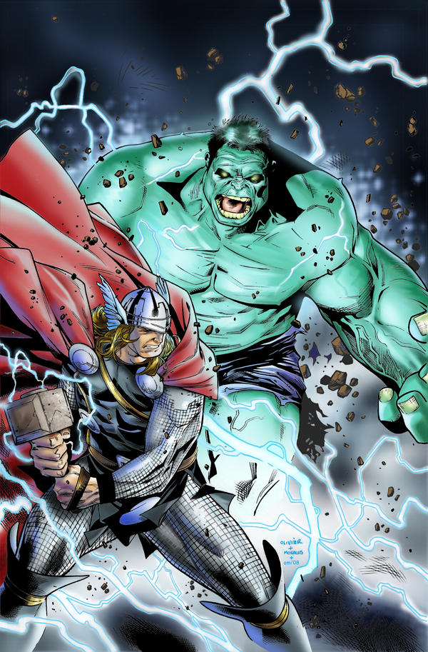 Thor vs Hulk by M. Morales by spidey0318