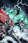 Thor vs Hulk by M. Morales