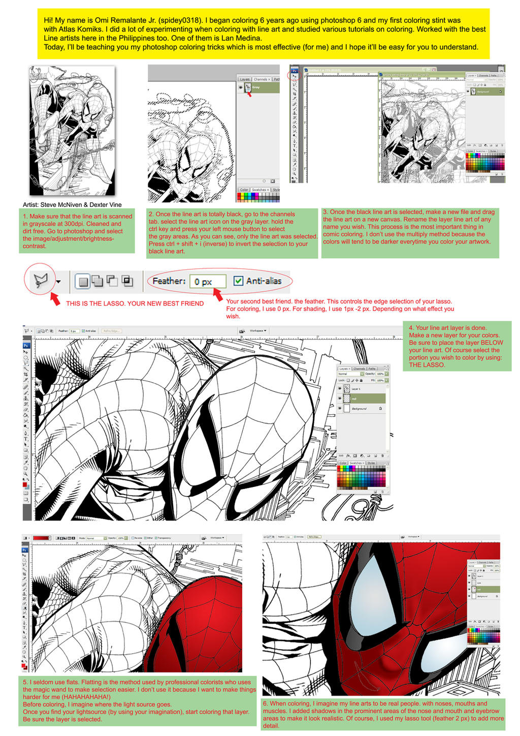 Comic Coloring Tutorial Prt1 By Spidey0318 On DeviantArt
