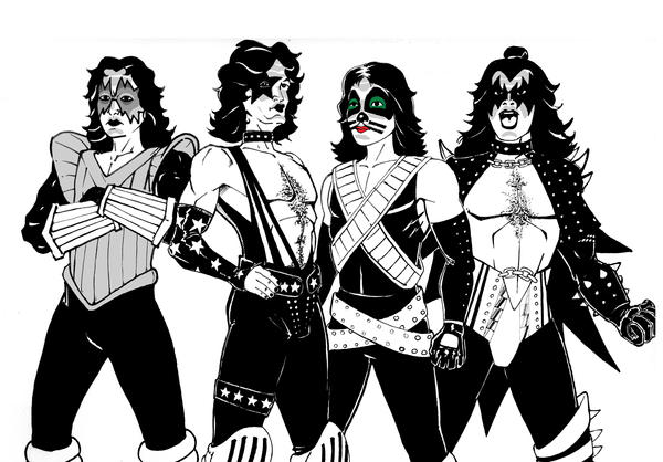Kiss Band Coloring Pages