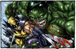 wolverine vs hulk colored