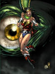 Wonder Woman in peril