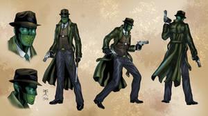 Green Kaoz modelsheet colored