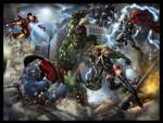 Avengers vs Green Scar poster