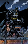 Batman and Catwoman pin up