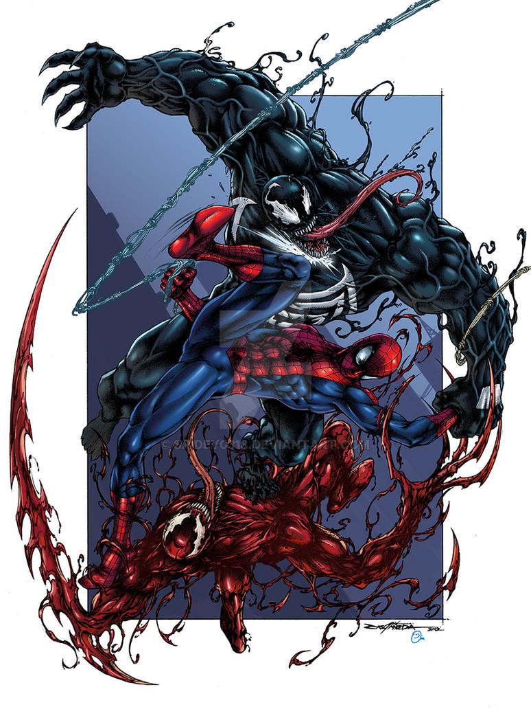 venom vs spidey vs carnage colors by spidey0318 on deviantart