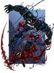 Venom vs Spidey vs Carnage colors