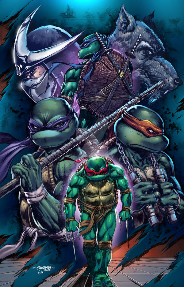 TMNT poster colored by spidey0318 on DeviantArt