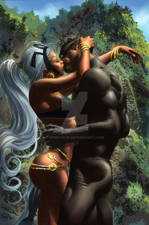 Storm / Black Panther romance by spidey0318