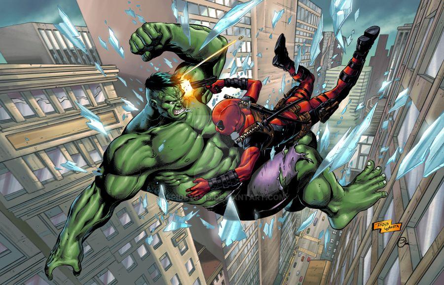 Hulk vs Deadpool by spidey0318