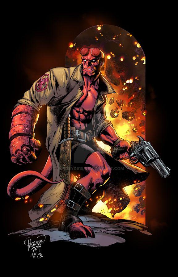 Hellboy- Omi Remalante colors by spidey0318