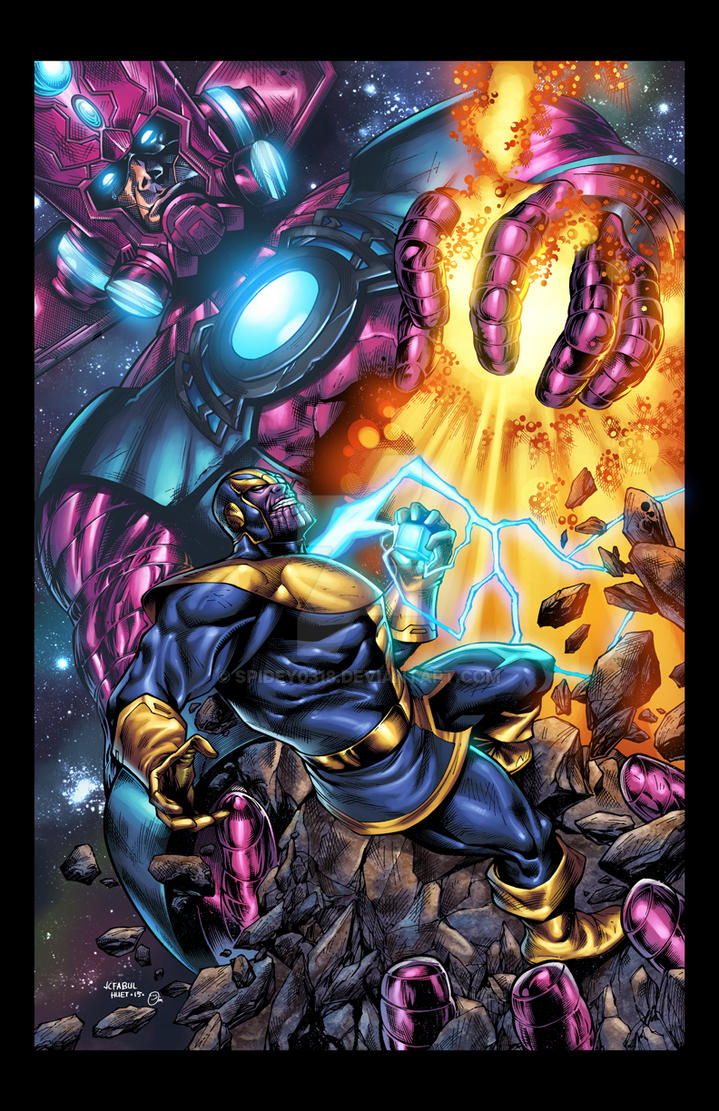 galactus vs thanos colors by spidey0318 on deviantart