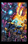 Galactus vs thanos colors