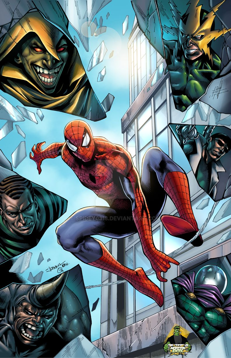 Spider Man Vs Sinister Six Colored By Spidey0318 On
