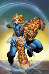 Sue Storm and Ben Grimm by spidey0318