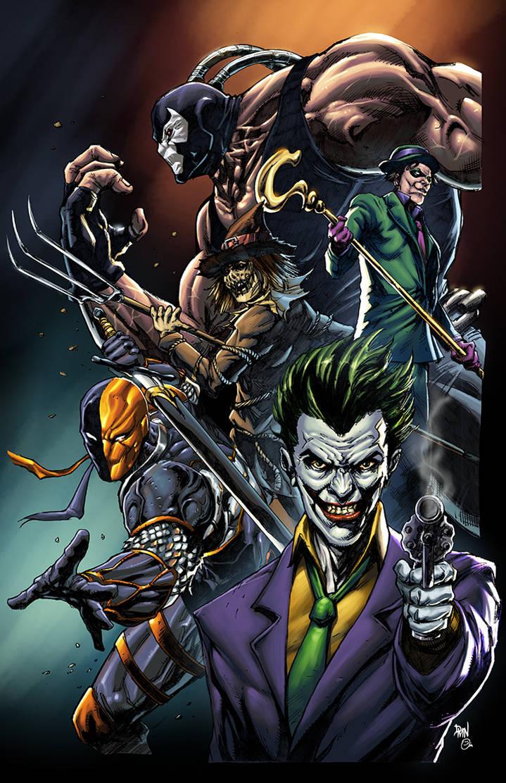 Batman Villains - Colors by spidey0318