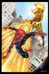 Spider-Man vs Firelord colors