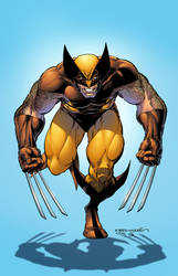 Arthur Adams Wolverine Poster colors
