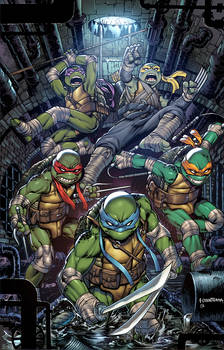IDW's TMNT #100 exclusive cover