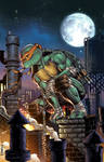 IDW's TMNT#101 Exclusive Cover colored