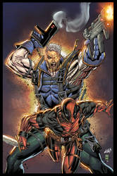 Cable and Deadpool colors
