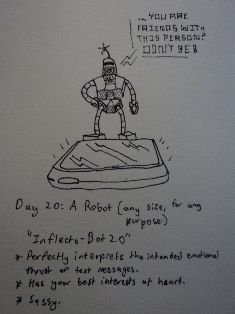 30 Day Challenge #20: A Robot by Rythmear