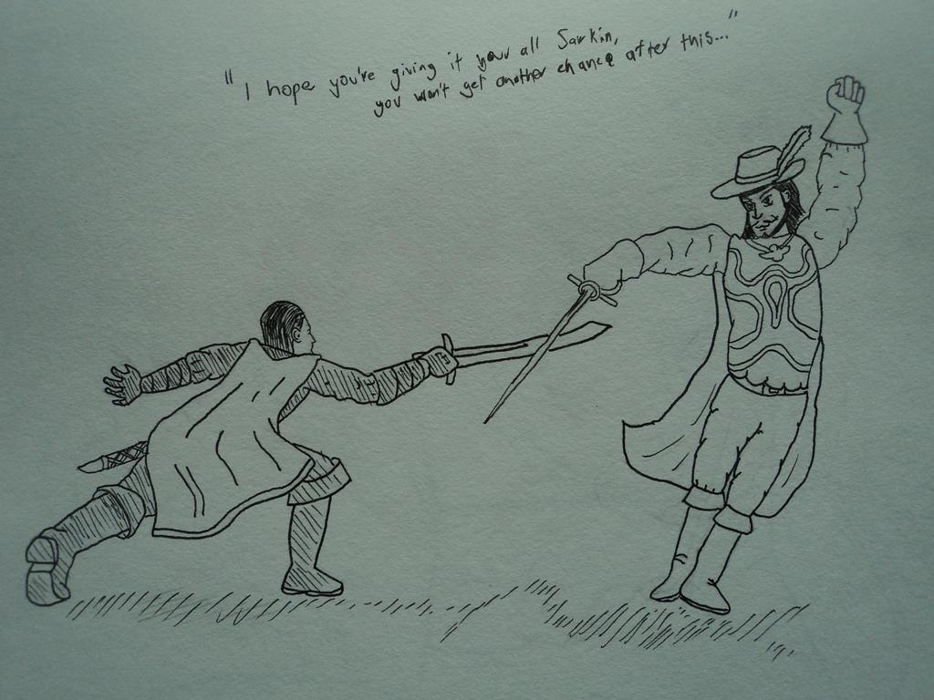 DnD: Sarkin Drexus vs Lord Falcon by Rythmear