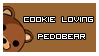Cookie Loving Pedobear Stamp by TheQueenMadonna