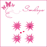 Star Shaped Smileys by TheQueenMadonna