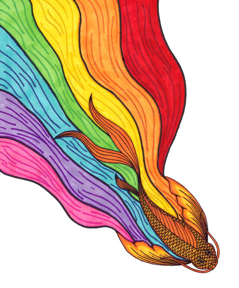 Rainbow koi v1 by writeitdown2908 on deviantart for Rainbow koi fish