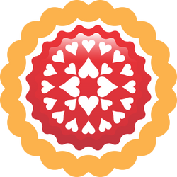Erdbeerkuchen Logo Prototype