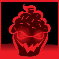 Evil cupcake icon 1