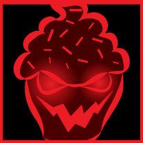Evil cupcake icon 2